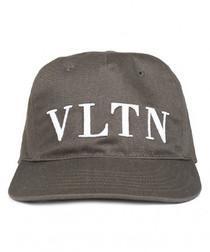 VLTN khaki canvas baseball cap