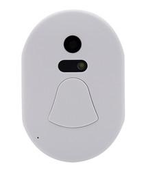 white wireless smart camera doorbell