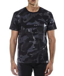 Black camo pure cotton T-shirt