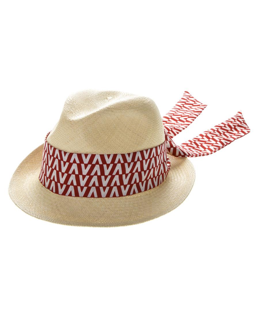 Red silk scarf trilby hat Sale - valentino garavani
