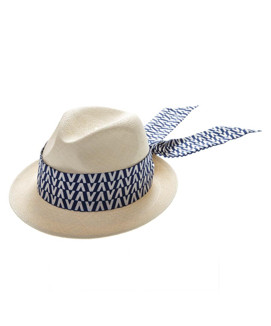 Navy silk scarf trilby hat Sale - valentino garavani
