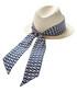 Navy silk scarf trilby hat Sale - valentino garavani Sale