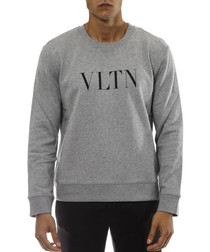 vltn grey cotton jumper