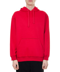 red cotton pullover hoodie
