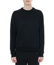 black cotton crew jumper
