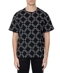 VLTN grid black pure cotton T-shirt