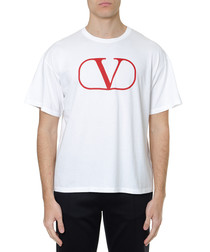 Vlogo white & red pure cotton T-shirt