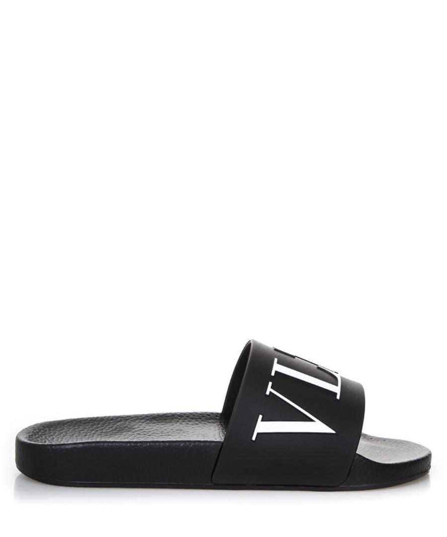 VLTN black rubber sliders Sale - valentino garavani