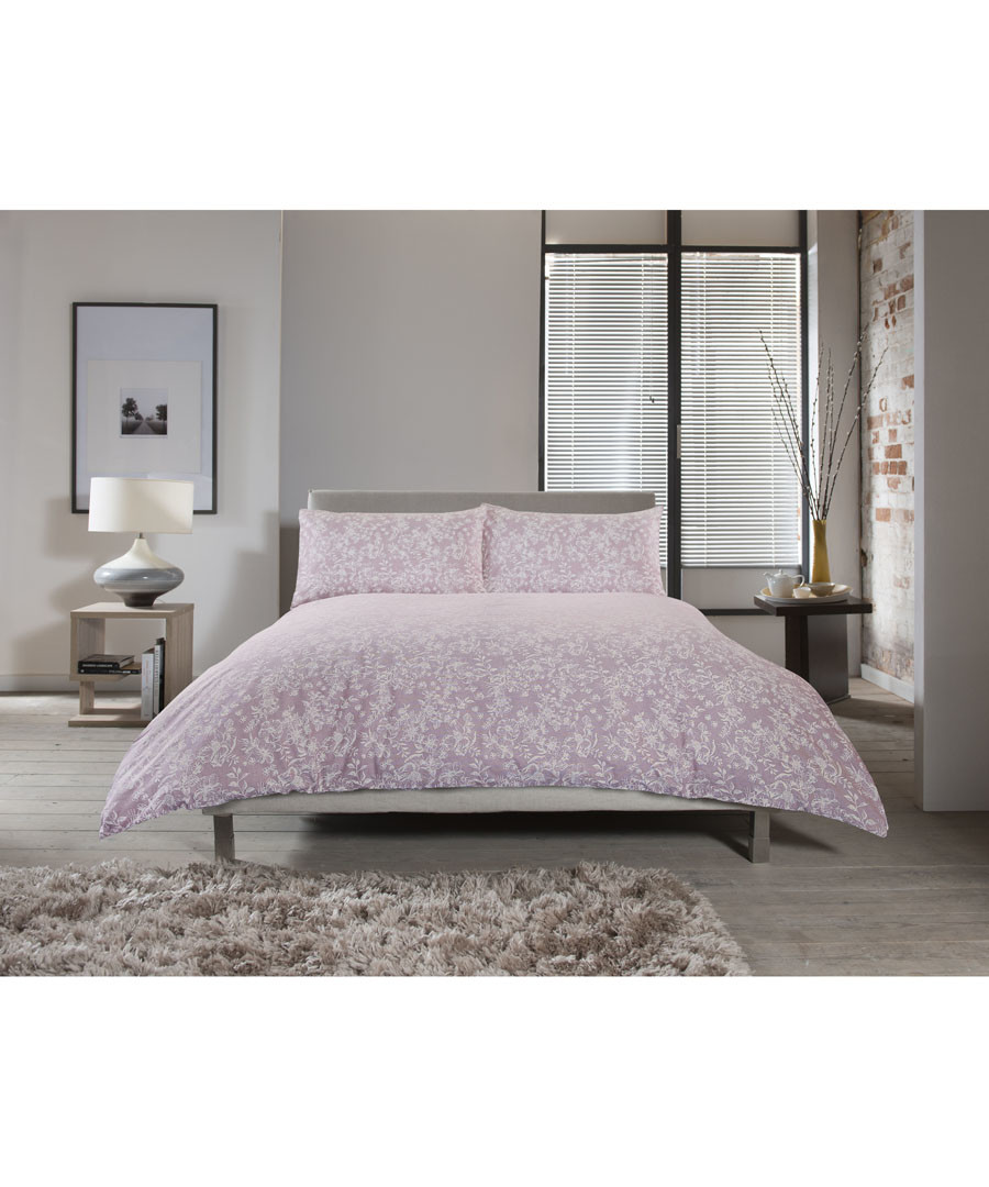 Chambray pink single duvet set Sale - lyndon