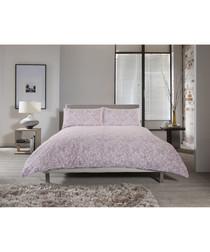 Chambray pink single duvet set