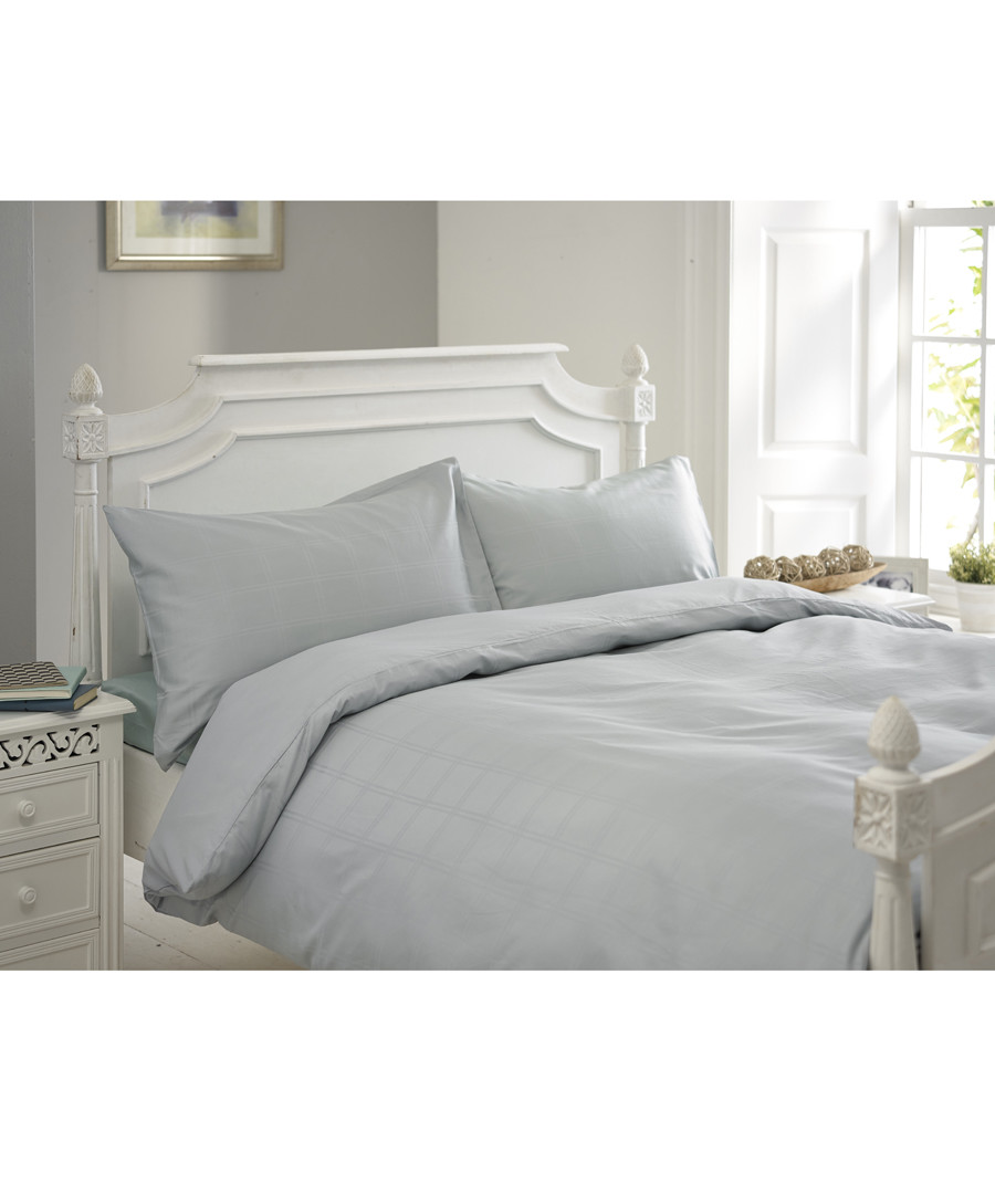 Milan duck egg single duvet set Sale - lyndon