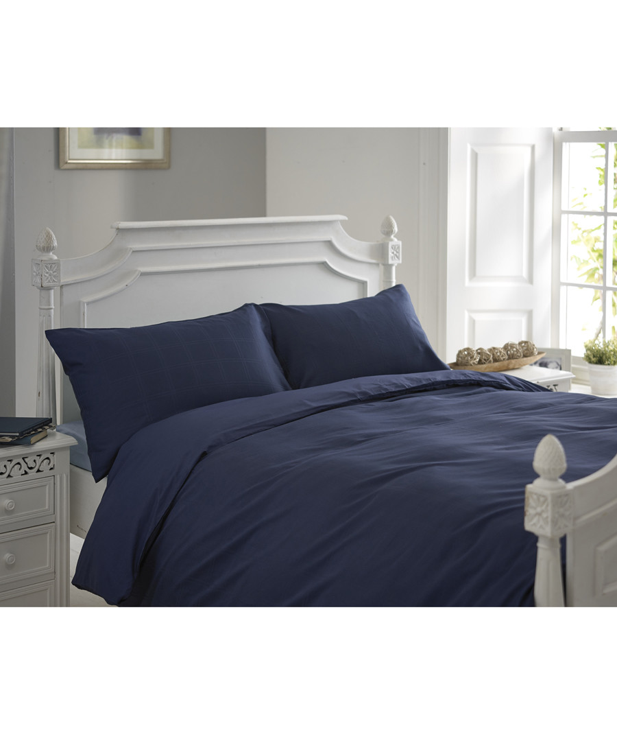 Milan navy single duvet set Sale - lyndon