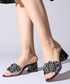 Black & clear block heel mules Sale - rovigo Sale