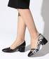 Snake-effect block heels courts Sale - rovigo Sale