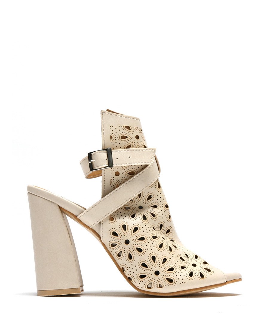Beige fretwork cut-out heels Sale - rovigo