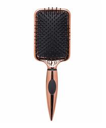 Rose gold-tone paddle brush