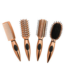 4pc Mini travel hairbrush set
