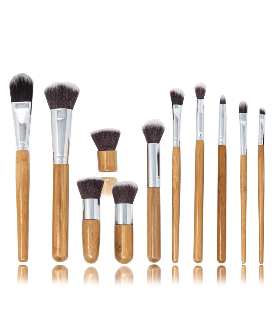 11pc Bamboo eco brush set Sale - zoe ayla