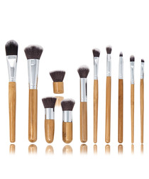 11pc Bamboo eco brush set
