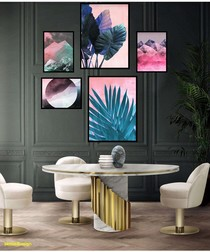 5pc Tropical wall art set