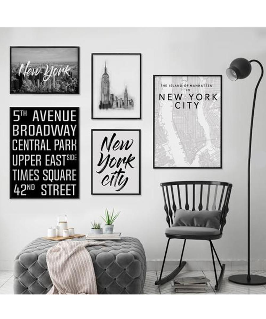 5pc New York wall art set Sale - modacanvas