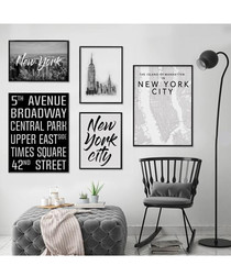5pc New York wall art set