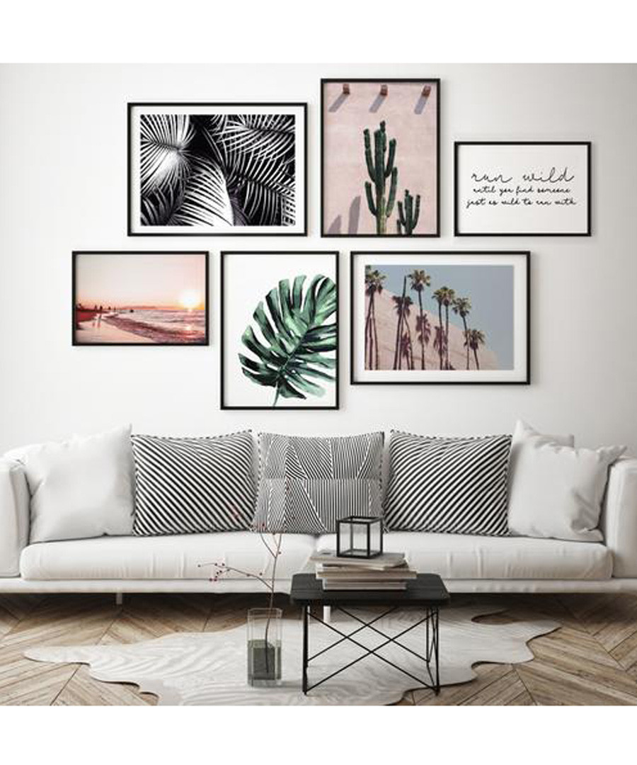 6pc Leaves wall art set Sale - modacanvas