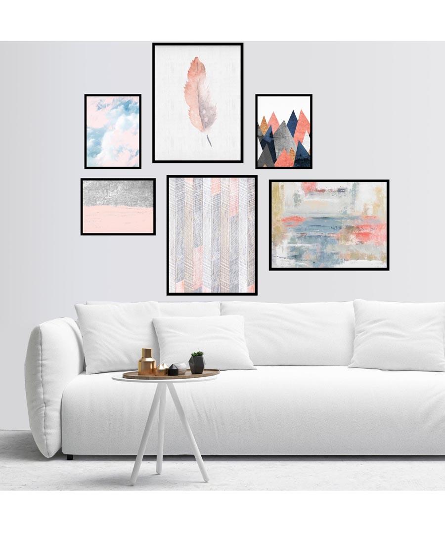 6pc Washout wall art set Sale - modacanvas