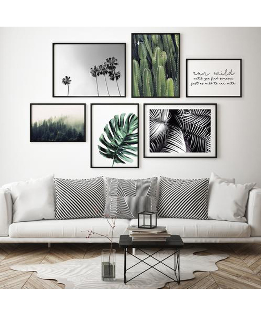 6pc Leaves II wall art set Sale - modacanvas