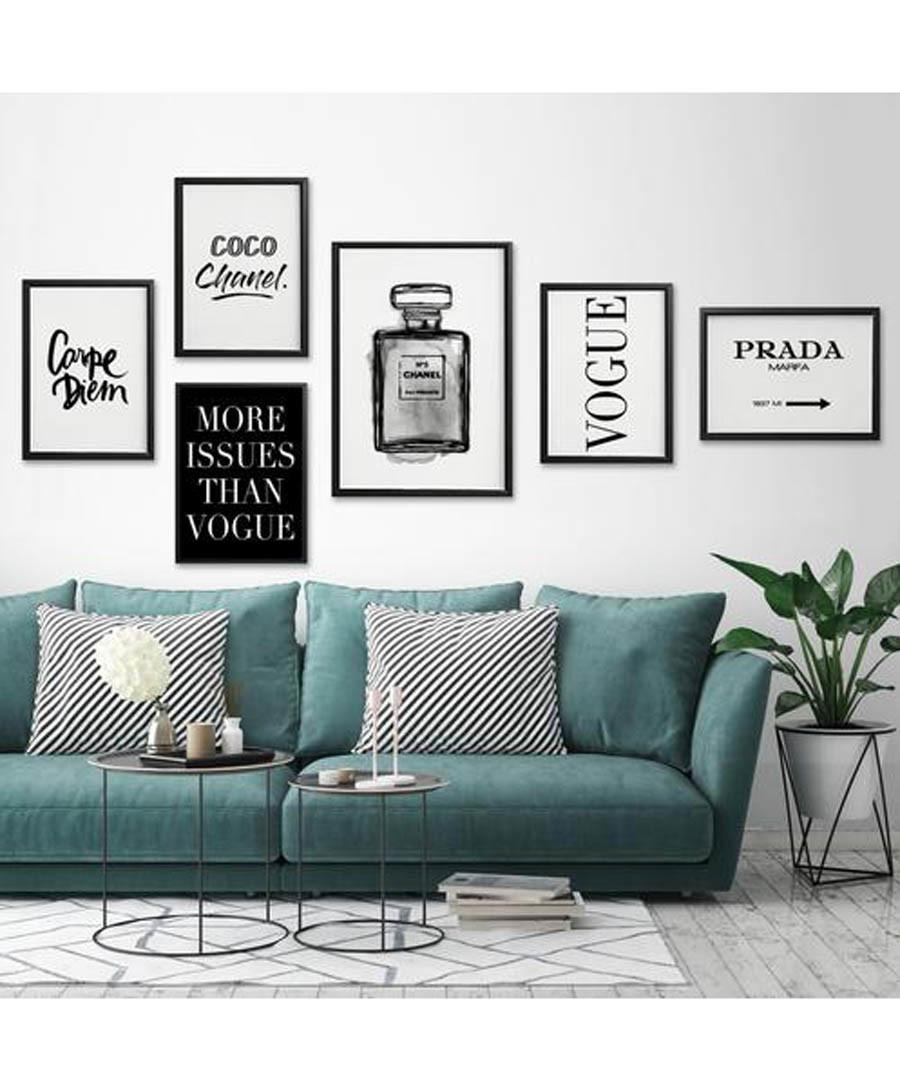 6pc fashion wall art set Sale - modacanvas