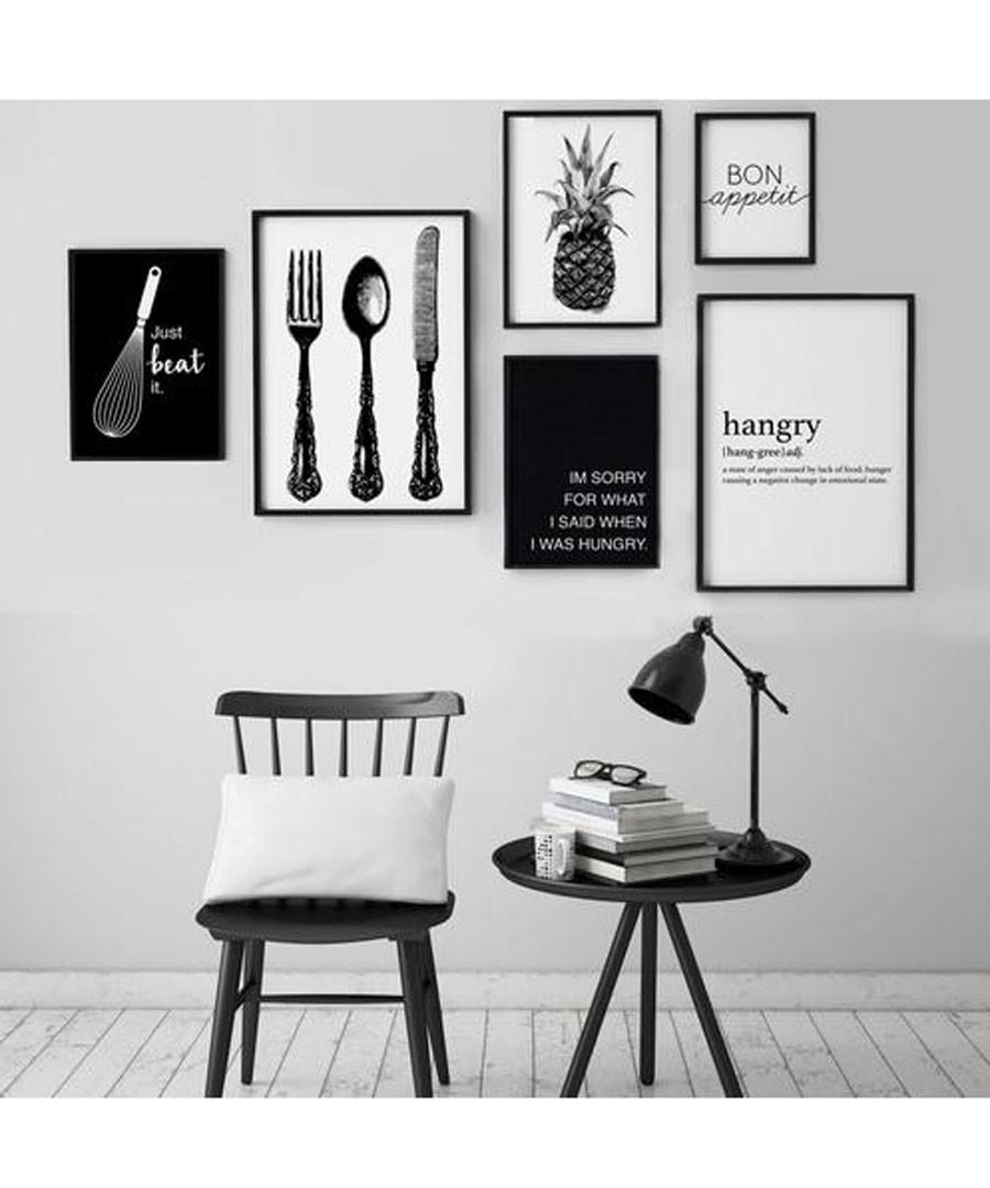 6pc Hangry wall art set Sale - modacanvas