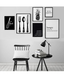 6pc Hangry wall art set