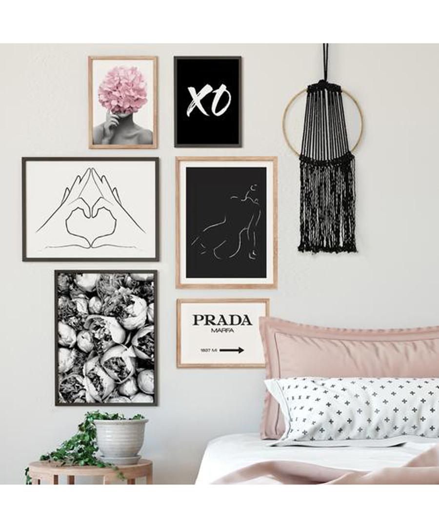 6pc XO wall art set Sale - modacanvas