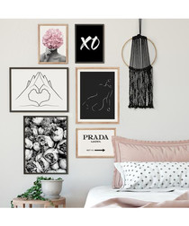 6pc XO wall art set