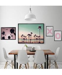 4pc Palms wall art set