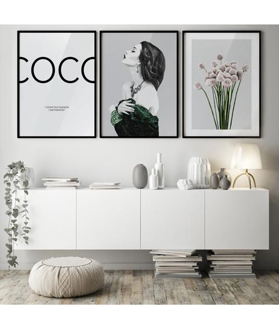3pc Coco II wall art set Sale - modacanvas