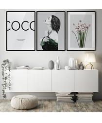 3pc Coco II wall art set