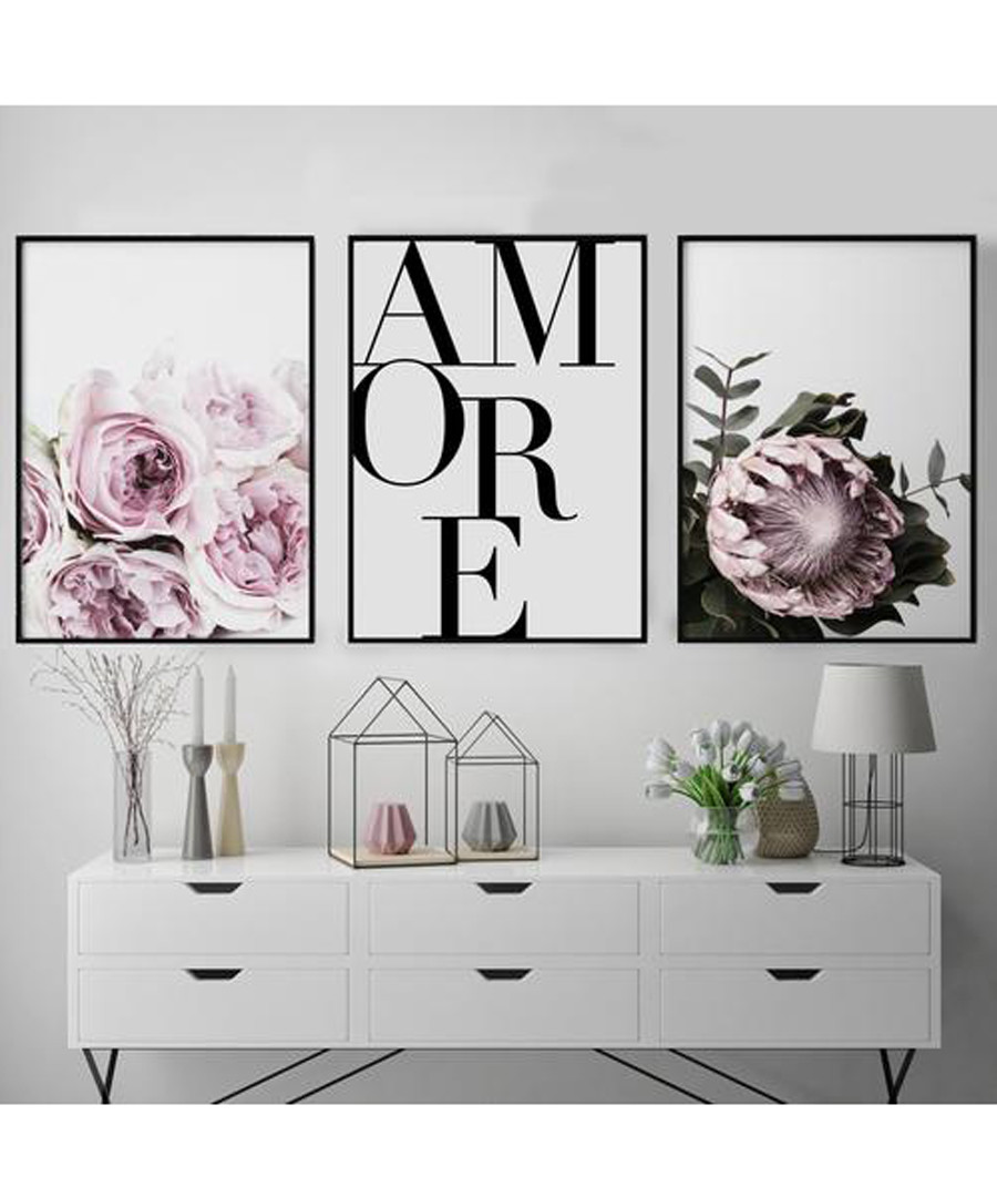 3pc Amore II wall art set Sale - modacanvas