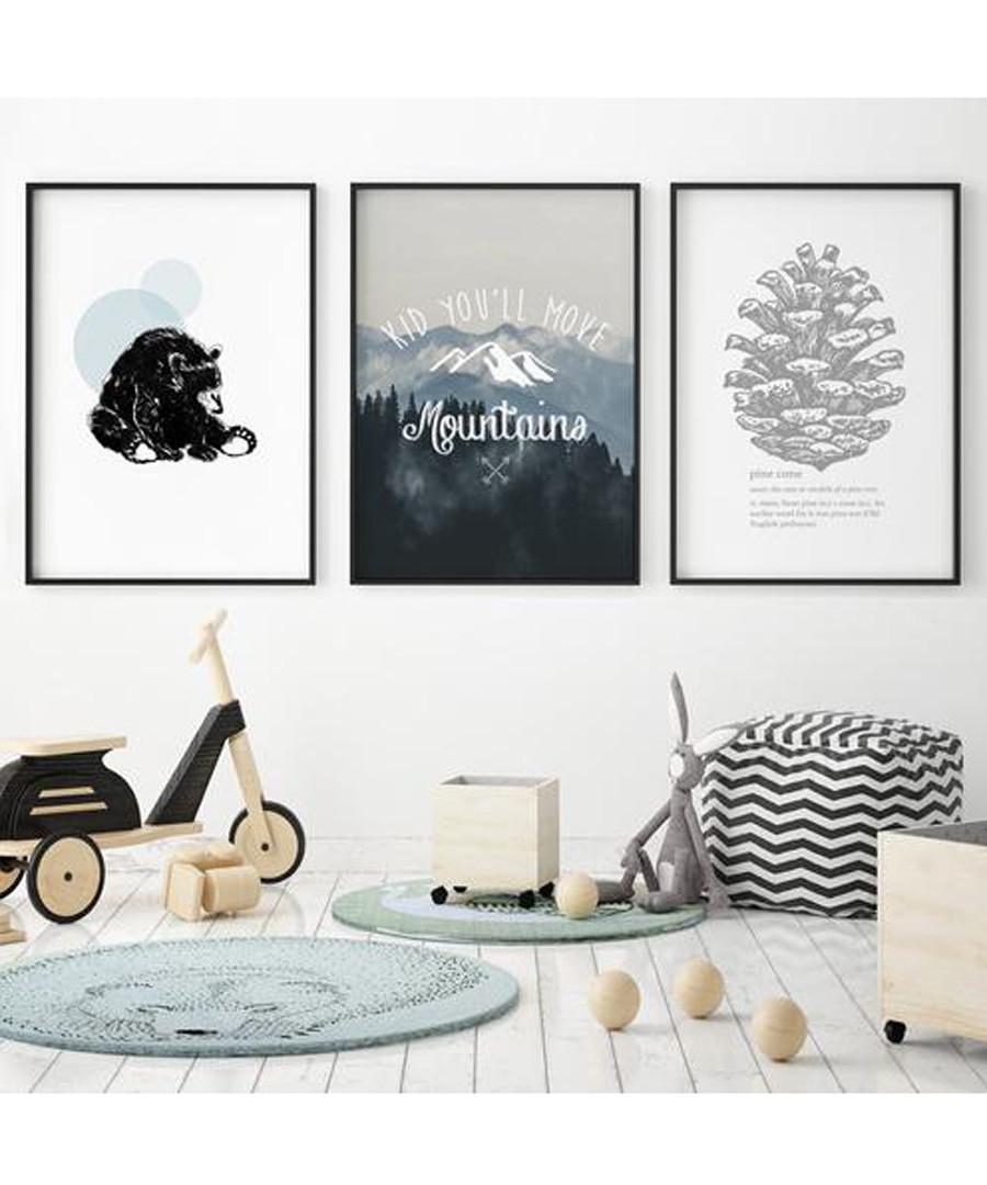 3pc Mountains wall art set Sale - modacanvas