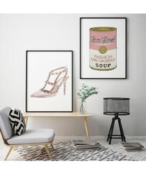 2pc Fashion Soup wall art set