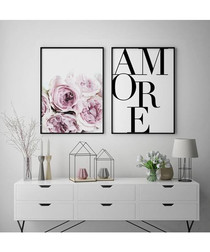 2pc Amore III wall art set