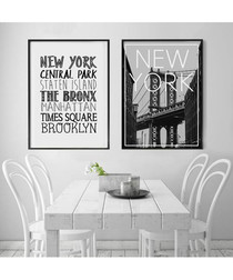 2pc New York II wall art set