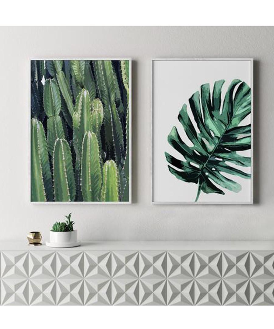 2pc Cactus II wall art set Sale - modacanvas