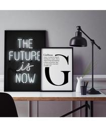 2pc Future wall art set
