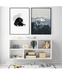 2pc Mountain wall art set