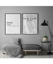 2pc Travel wall art set