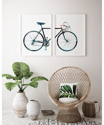 2pc Bicycle wall art set
