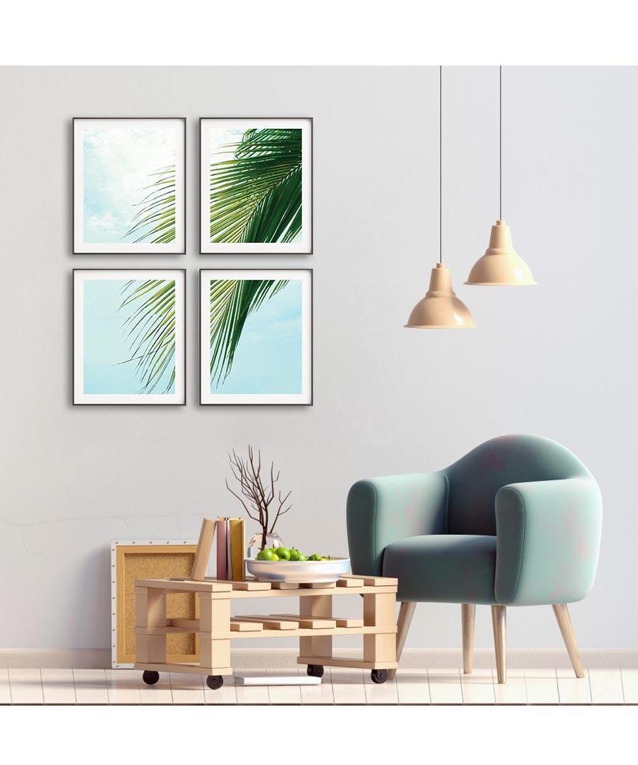 4pc Palm II wall art set Sale - modacanvas