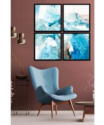4pc Negative wall art set