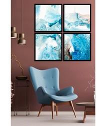 4pc Negative wall art set